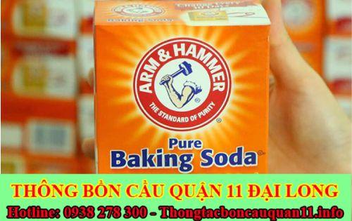 thông bồn rửa mặt bằng baking soda