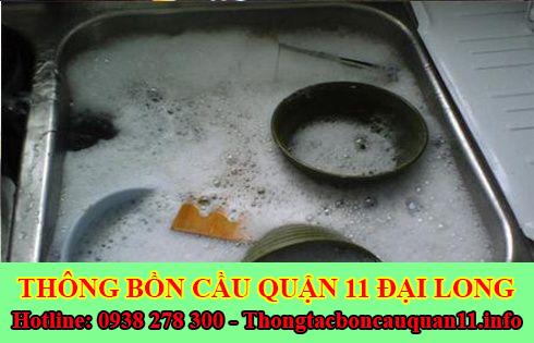 Thông tắc bồn rửa chén bát bị trào ngược Quận 11 lh:0903737957