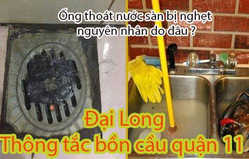 Ống thoát nước sàn bị nghẹt do đâu ?